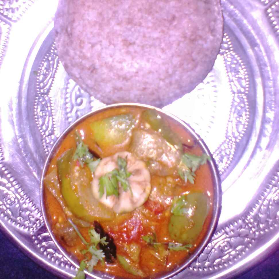 Photo of Ragi sangati,capsicum curry by Chinnaveeranagari Srinivasulu at BetterButter