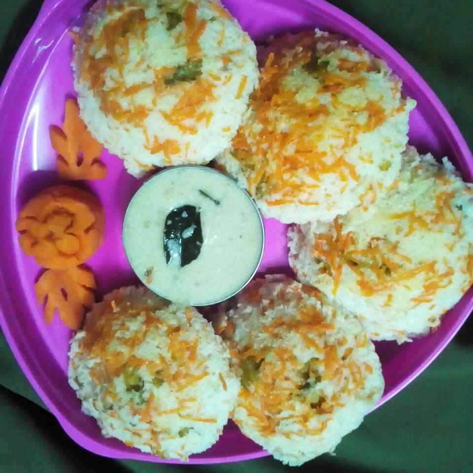 Photo of Carrot idli by Chinnaveeranagari Srinivasulu at BetterButter