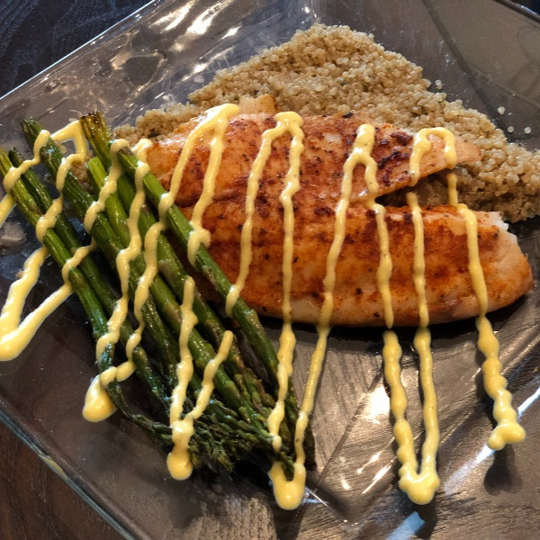 Photo of Blackened Tilapia w/ Asparagus and Quinoa by christopher ansardi at BetterButter