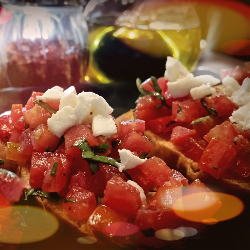 Photo of Tomato, mozzarella and Basil bruschetta by Italiano Restaurant at BetterButter
