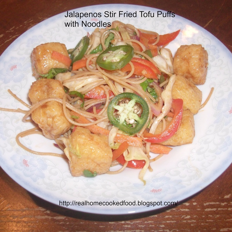 Photo of Jalapenos Stir Fried Tofu Puffs with Noodles by Linsy Patel at BetterButter
