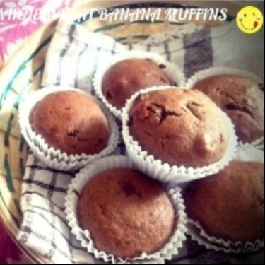 How to make Eggless Whole Wheat Banana Muffins