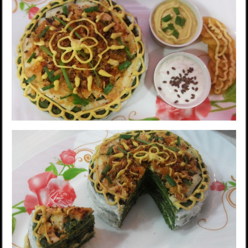 Photo of Spinach pan cake by uzma shouab at BetterButter