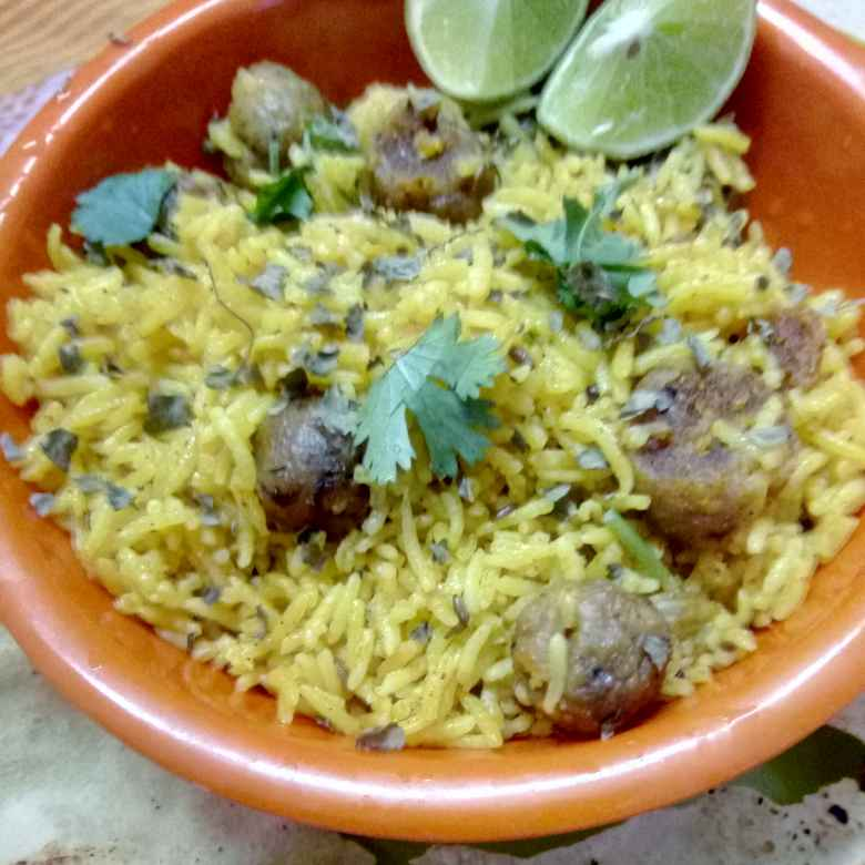 """How to make Rajasthani Special """"Gatte ka pulaw"""""""