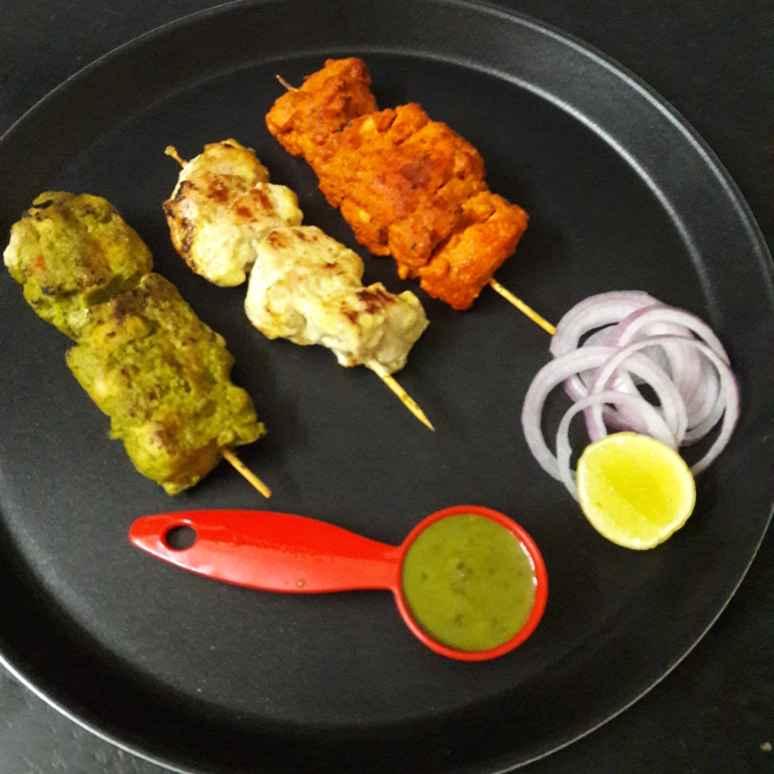 Photo of Chicken Tikka, Afgani Chicken Tikka& Hariyali Chicken Tikka by Debomita Chatterjee at BetterButter