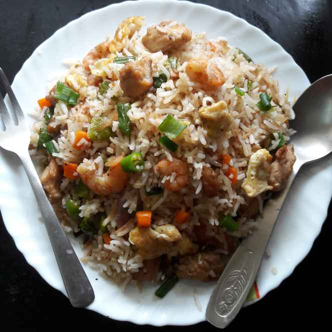Photo of Mixed  Fried Rice by Debomita Chatterjee at BetterButter