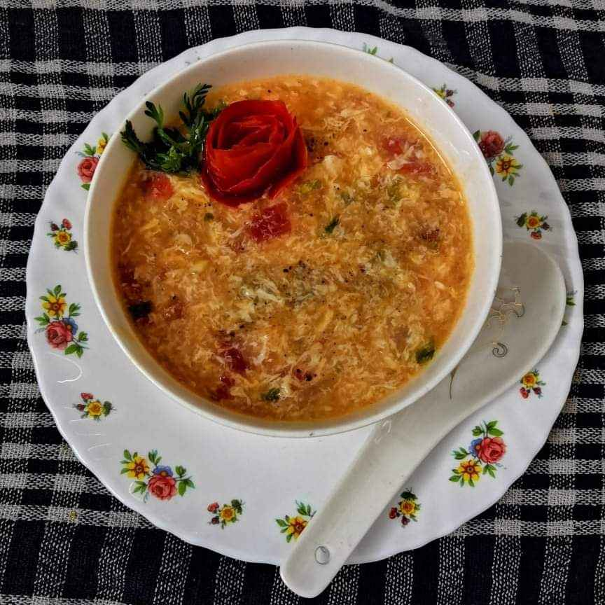 How to make Tomato egg drop soup