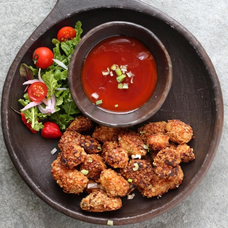 Photo of Sriracha Chicken Oat Poppers {Not deep fried} by Deeba Rajpal at BetterButter