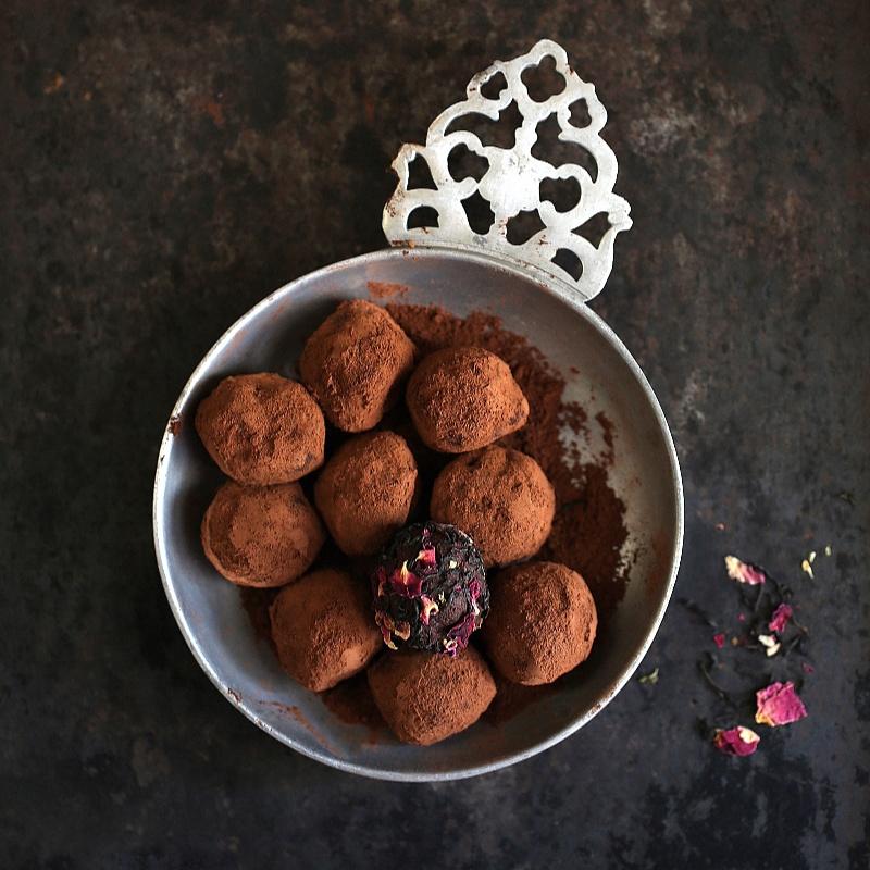 How to make Tea Rose Chocolate Truffles,
