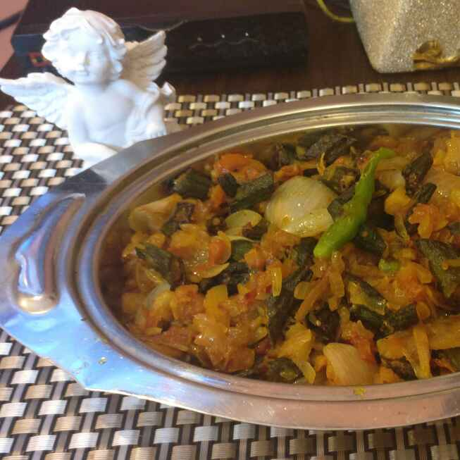 Photo of Bhindi Do Pyaaza (Restaurant style) by Deepa Bajaj at BetterButter