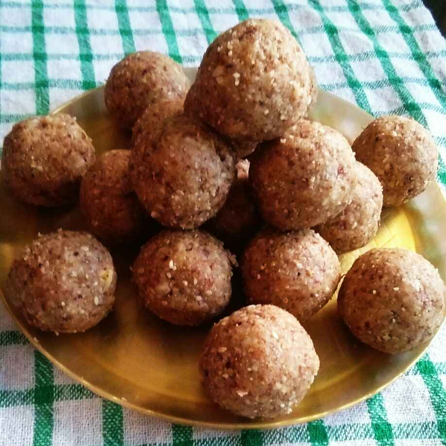 Photo of Healthy Jaggery ladoo by Deepa Gad at BetterButter