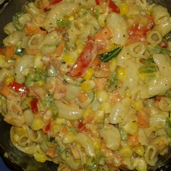 How to make Chilled pasta and corn salad