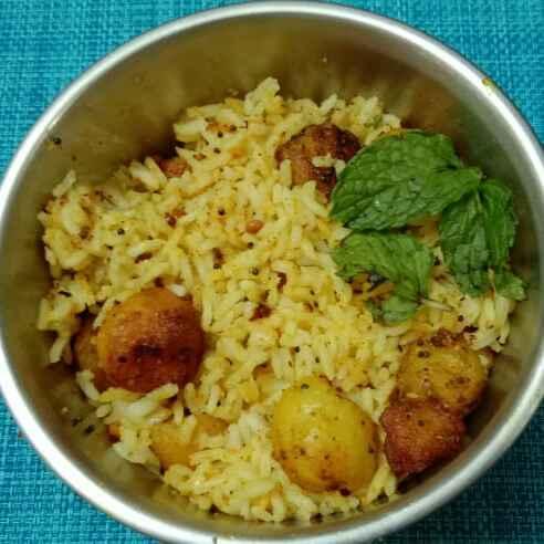 Photo of Baby potato rice ( no onion no garluc) by Deepa Srivatsan at BetterButter