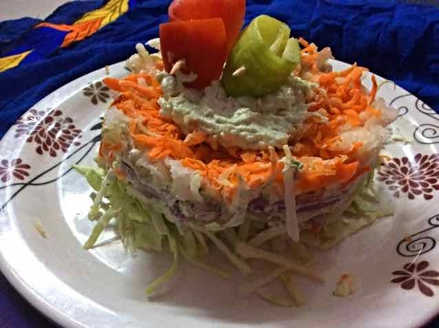 How to make Salad Cake
