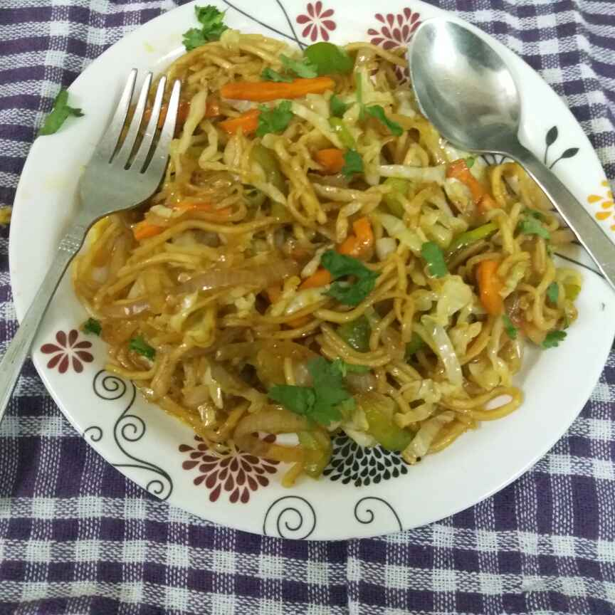 How to make Veg indo chinese hakka noodles