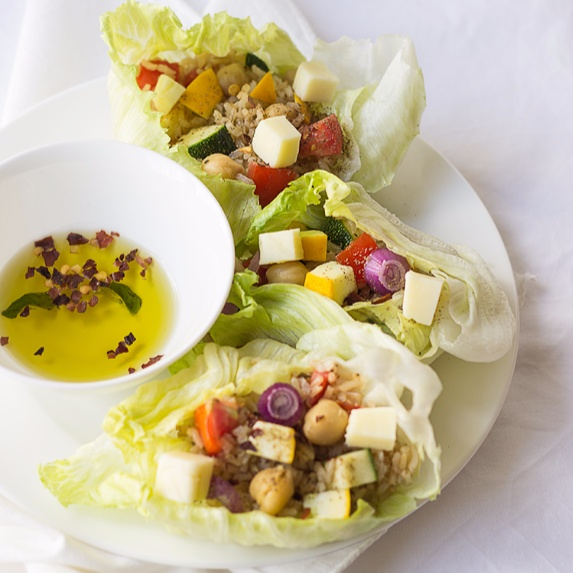 Photo of Brown Rice Lettuce Wraps by Deepali Jain at BetterButter