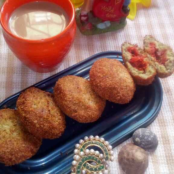 Photo of veggie stuffed cutlets with  sprouts cover by deepali oak at BetterButter