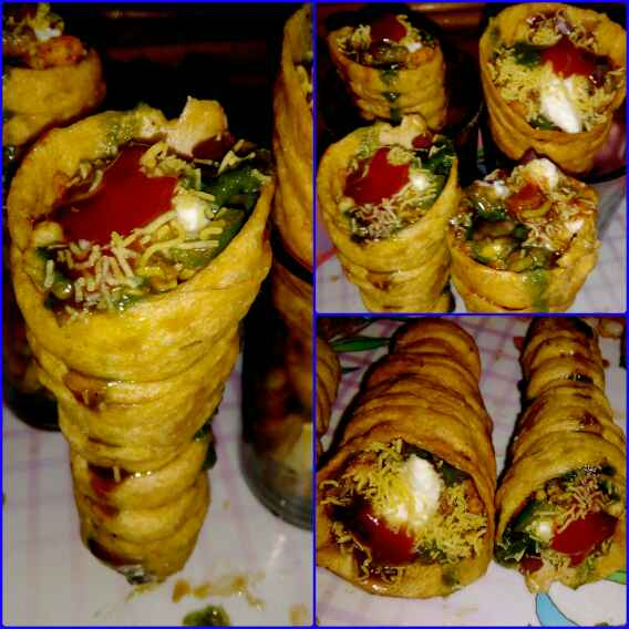How to make Spiral Cone Chaat
