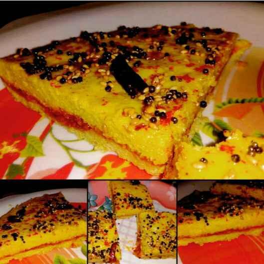 Photo of Garlic peanut chutney stuffed dhokla by Deepika Chauhan at BetterButter