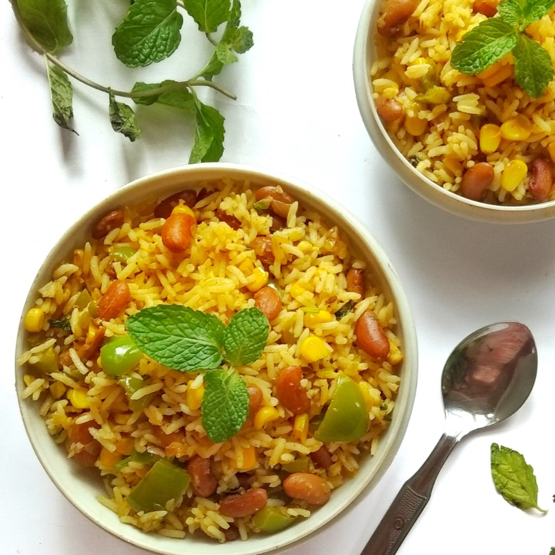 Photo of CORN AND RAJMA FRIED RICE WITH A HEALTHY TWIST: by Deepika Shet at BetterButter