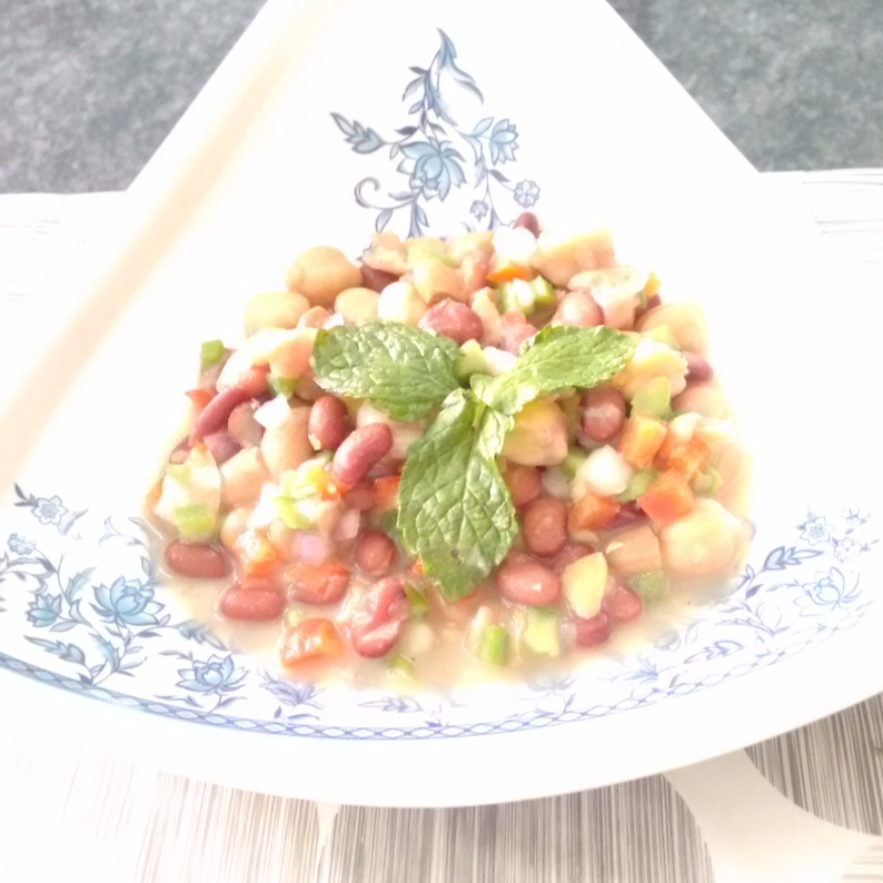 How to make Wholesome and filling Three Bean Salad