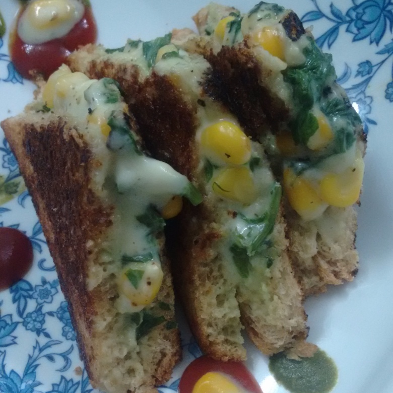 Photo of Creamy Spinach and Corn Toast by Deepika Vaswani at BetterButter