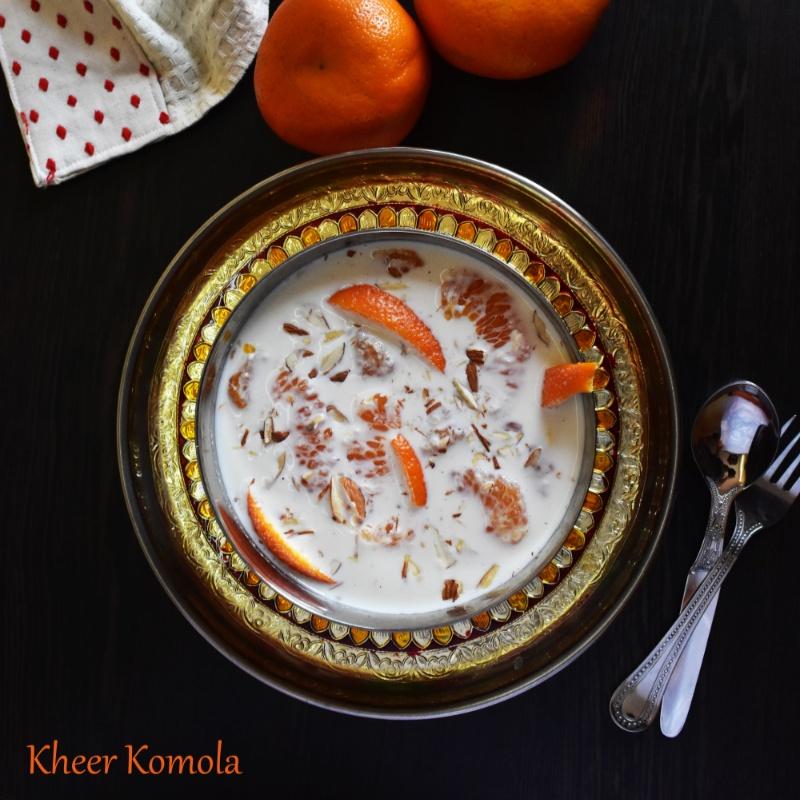 How to make Kheer Komola / Orange Kheer (Milk Pudding with Orange)