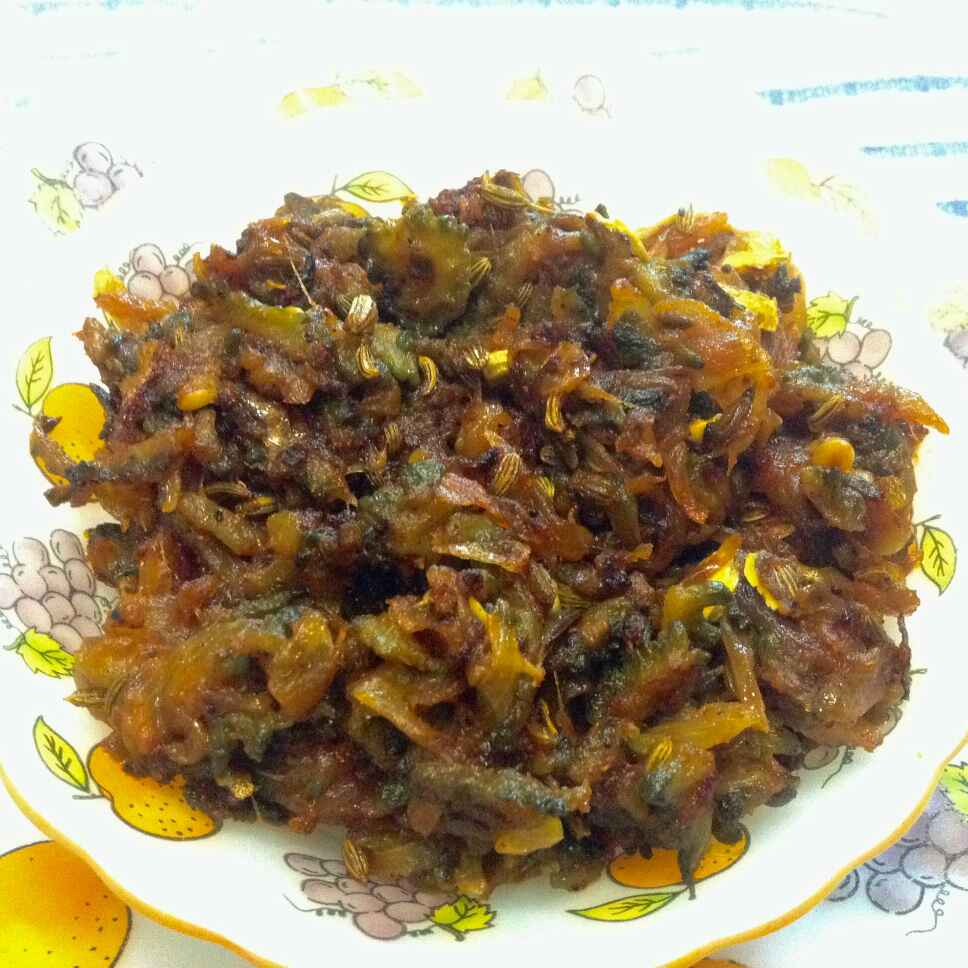 Photo of Karela onion fry by Delicacies On The Plate - Pallavi's Kitchen at BetterButter