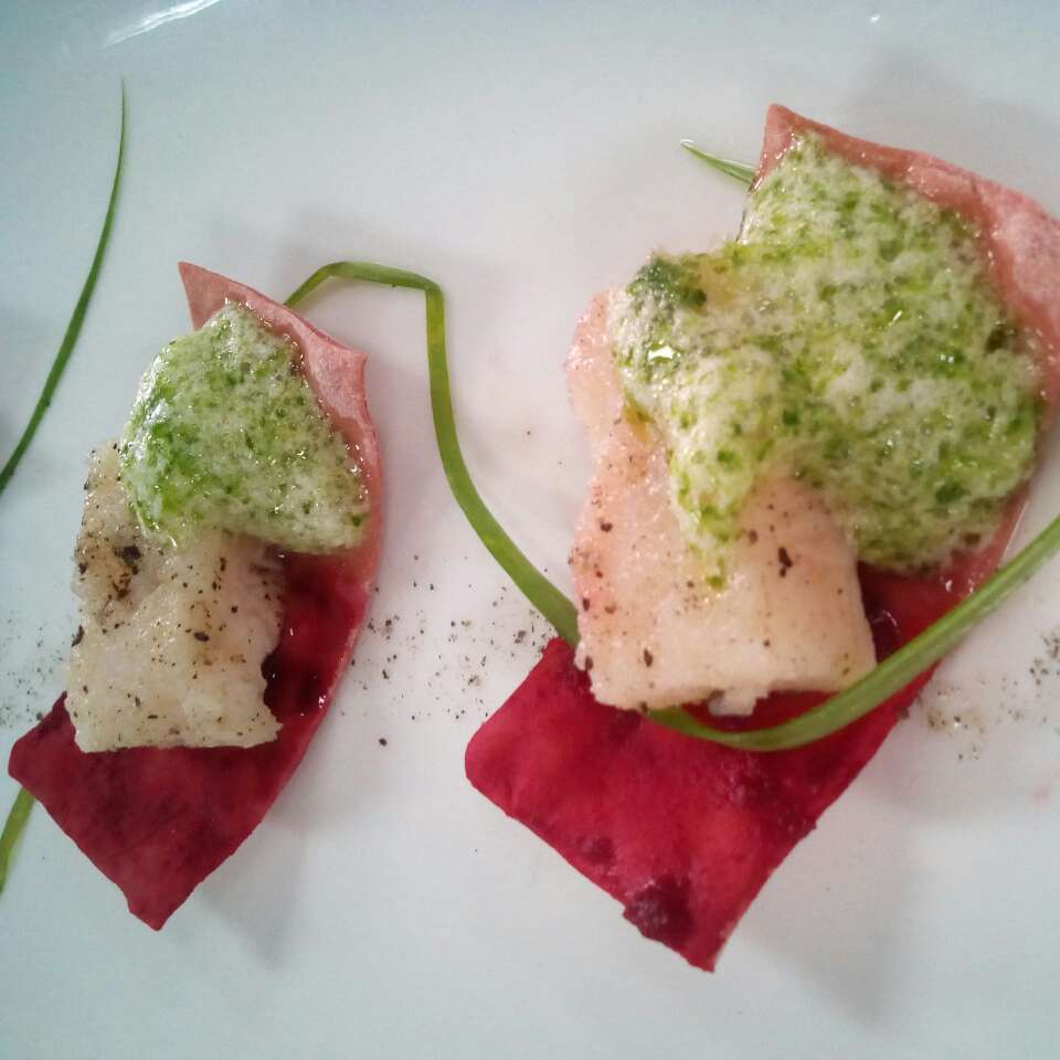Photo of Poached Fish with Beet Lavash Canapes by Devansh Puri at BetterButter