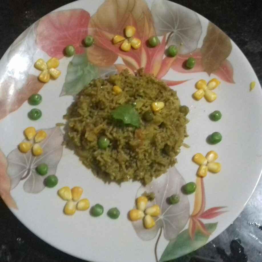 Photo of Palak corn briyani by Devi Amlani at BetterButter