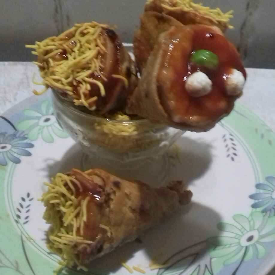 How to make Vegetable roti cone