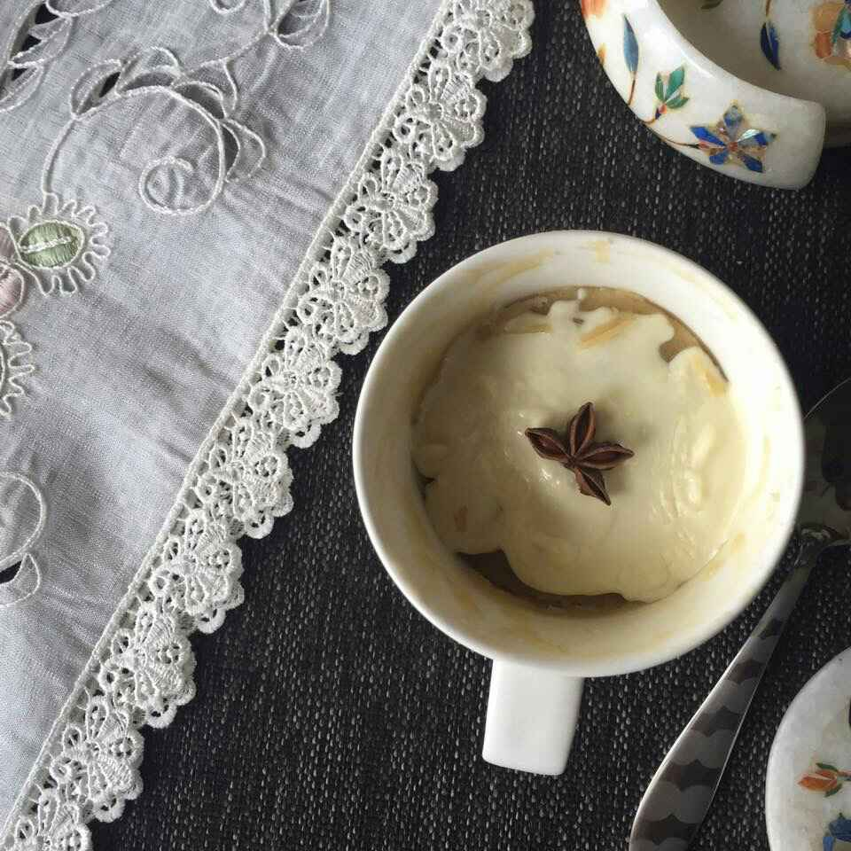 How to make Masala Chai mug Cake with white chocolate