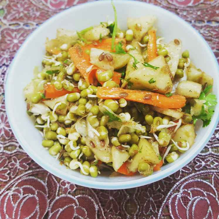 Photo of Apple and sprouts salad by debashri chatterji at BetterButter