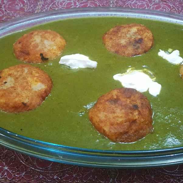 How to make Malai kofta in spinach gravy