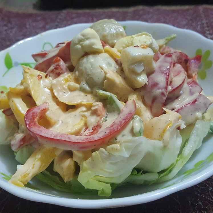 How to make Egg and Vegetable Salad