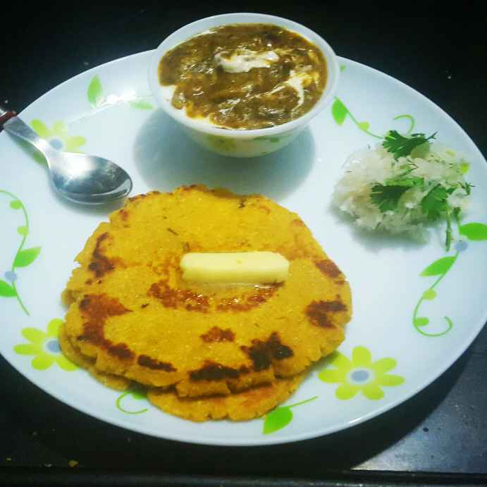 Photo of Makke ki Roti and Sarso ka Saag by debashri chatterji at BetterButter