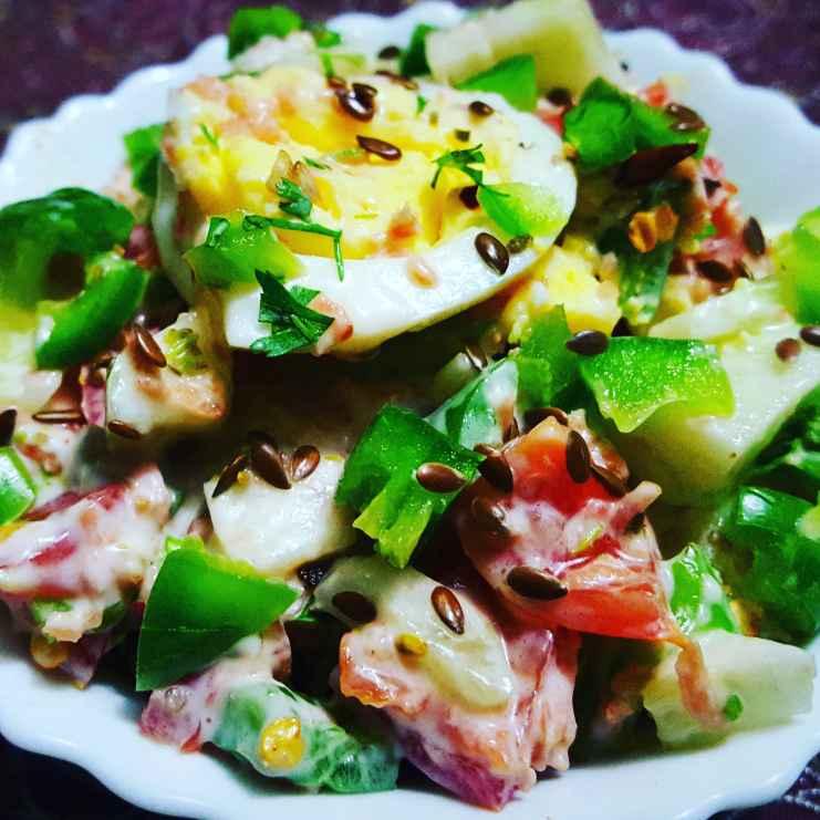 How to make Eggs and Veggies Salad
