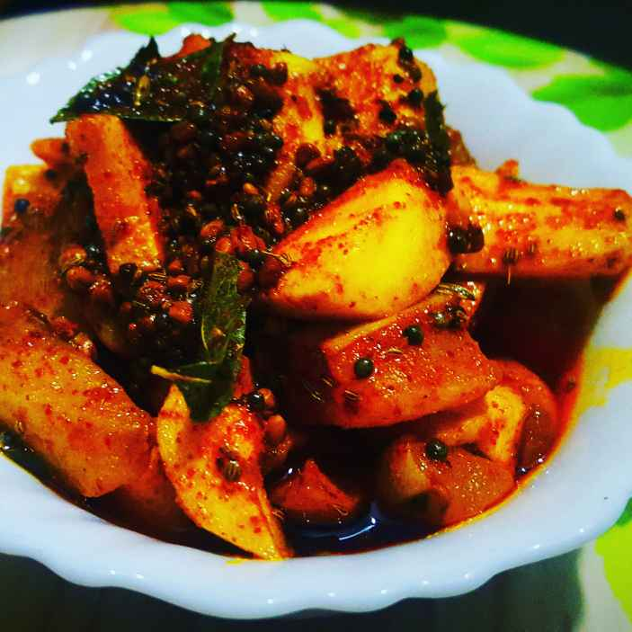 How to make Instant mango pickle