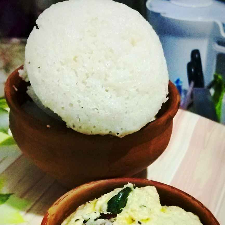 Photo of Idli - peanut chutney by debashri chatterji at BetterButter