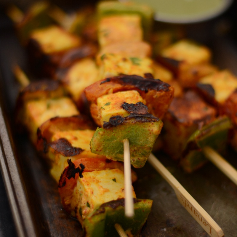 Photo of Tandoori Paneer Skewers with Goat's Yoghurt by Dhanya Samuel at BetterButter