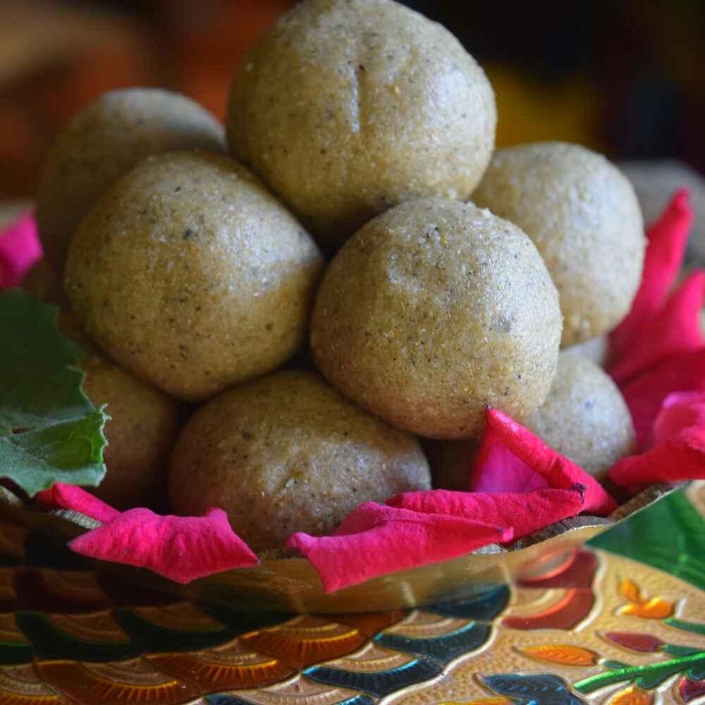 Photo of Panjiri laddu (paramparik janmashtami laddu) by Dhara joshi at BetterButter