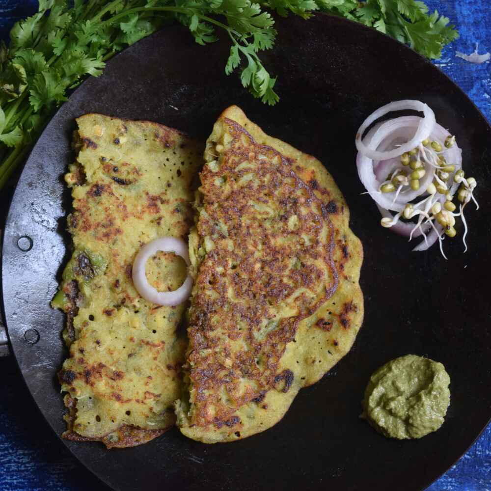 Photo of Charotar ke chile / ankurit moong aur bajra chile/ puda by Dhara joshi at BetterButter