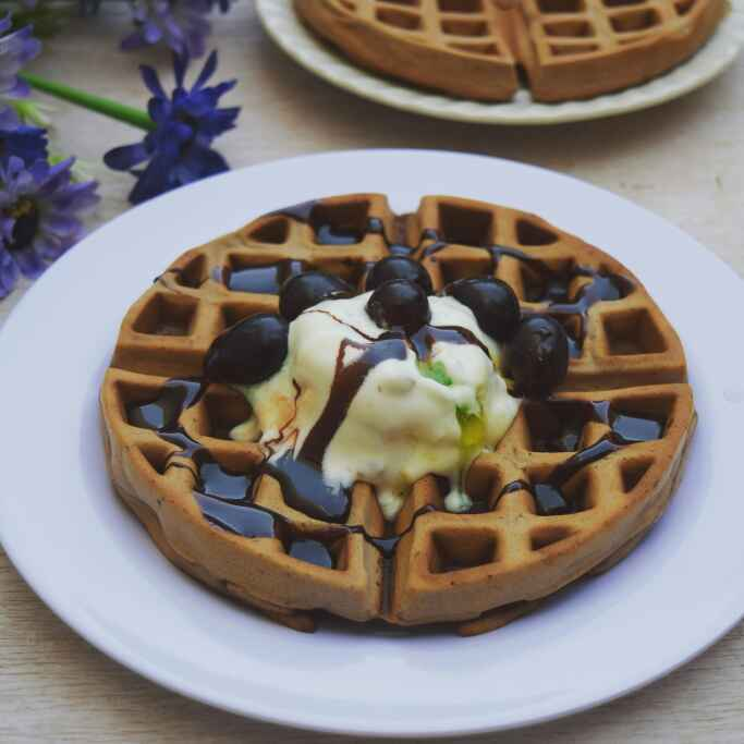 Photo of Belgium chocolate waffles by Dhara joshi at BetterButter