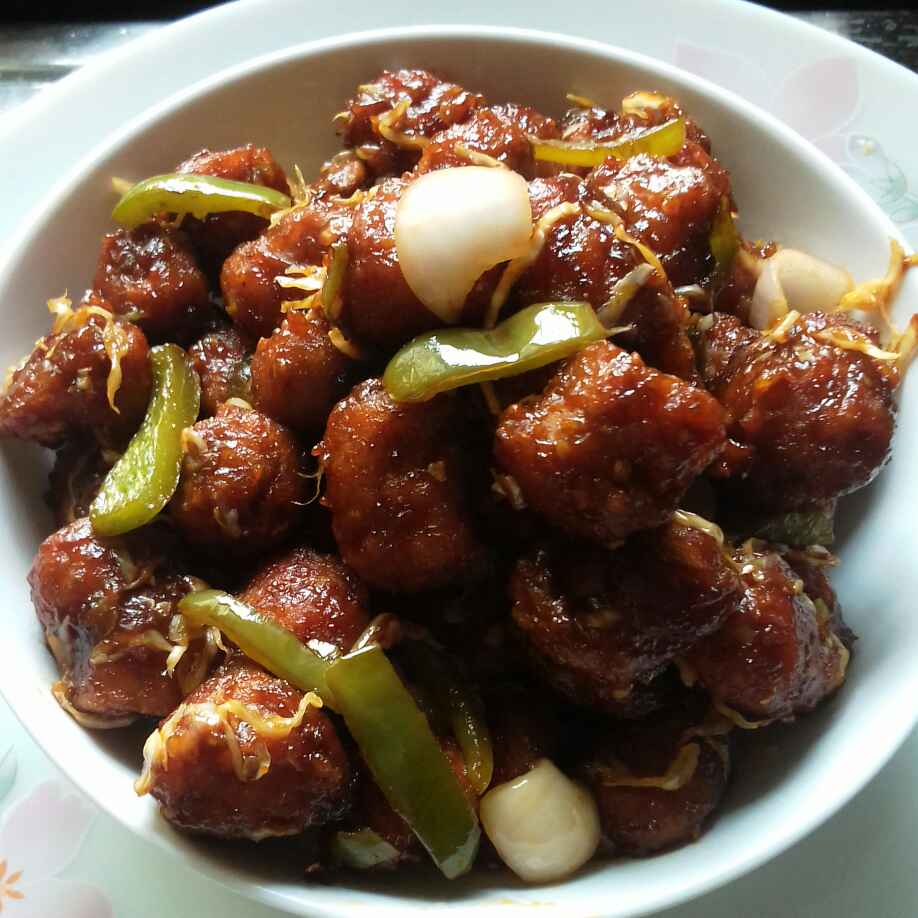 How to make Soya manchurian