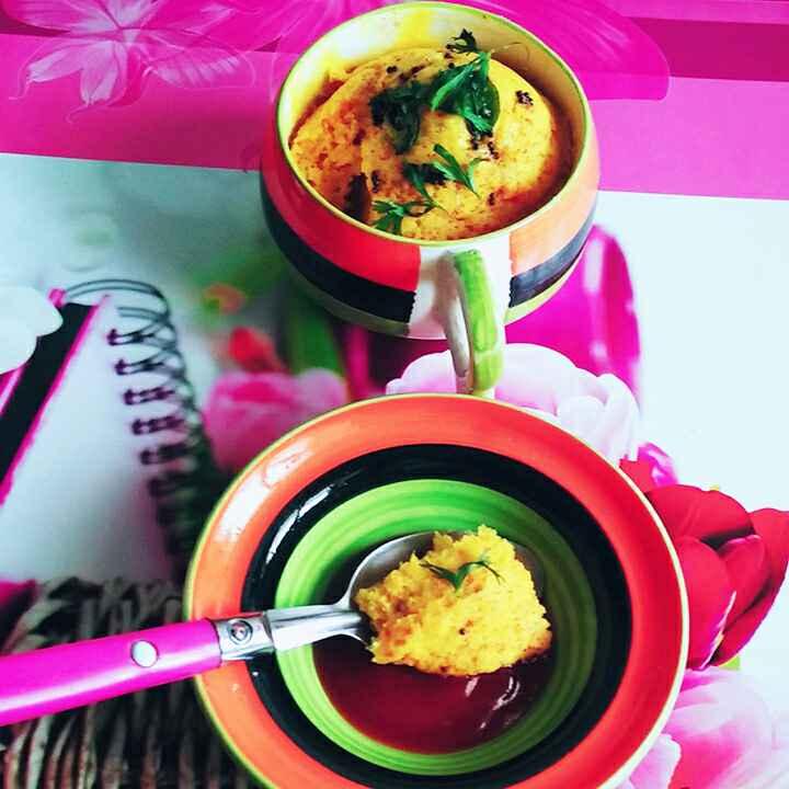 How to make 2 Minutes Microwave Khaman Dhokla in Mug!