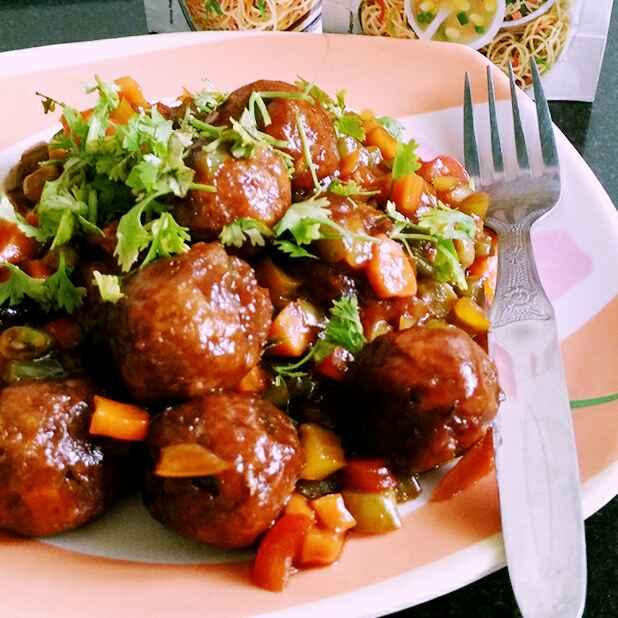 Photo of Chinese Dry Manchurian balls (No onion, No garlic) by Dhara Shah at BetterButter