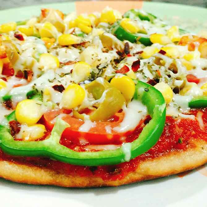 Photo of No bake - No yeast whole wheat Pizza by Dhara Shah at BetterButter