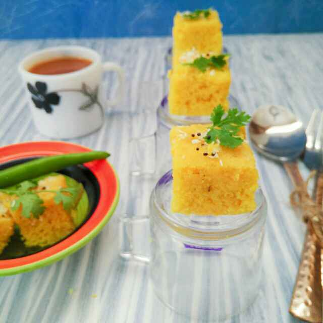Photo of Instant khaman dhokla by Dhara Shah at BetterButter