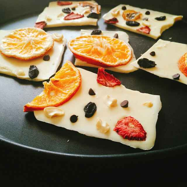 Photo of Homemade sun dried fruit white chocolate by Dhara Shah at BetterButter