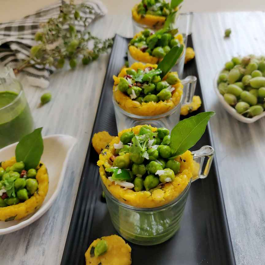 Photo of Green Chickpeas Salad With Steamed Lentil Fenugreek Baskets by Dhara Shah at BetterButter
